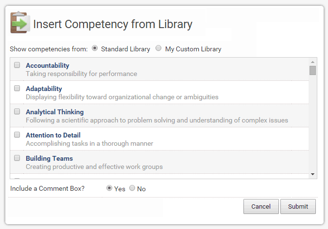 EchoSpan 360-Degree Feedback Competency Library